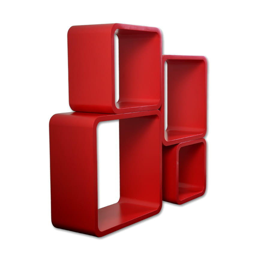 Home design p ki cube red zestaw 4 szt vgl lo02 r home design Home design sklep online