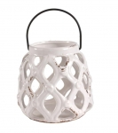 HOME Design :: Lampion ceramiczny Lightning White (D104032)