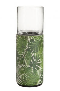 HOME Design :: Świecznik, greenery, tropical, 43,5x15,5x15,5 cm (JL82621)
