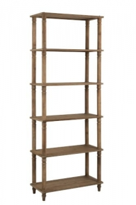 J-LINE :: Regał Shelves Wood Natural, drewno, 221x85x38 cm (JL90327)