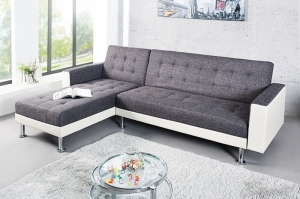 INTERIOR :: Sofa narożna, narożnik Grey and White (Z36141)