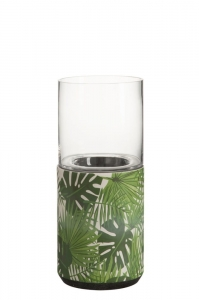HOME Design :: Świecznik, greenery, tropical, 35x15,5x15,5 cm (JL82620)