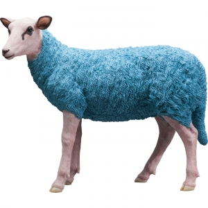 HOME Design :: Figurka rzeźba Owca - Sheep turkus (38133)