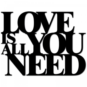 Dekosign :: Napis na ścianę 3D Love Is All You Need czarny (LIAYN1-1)