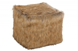 J-LINE :: Puf, siedzisko Bean Bag Fur Brown, 50x50x50 cm (JL67767)