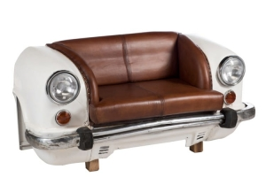 HOME Design :: Sofa, kanapa dwuosobowa Auto, vintage, automotive 83x158x70 cm (JL80395)