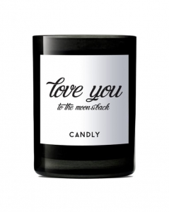 "CANDLY & Co :: Świeca wegańska ""love you to the moon and back"""