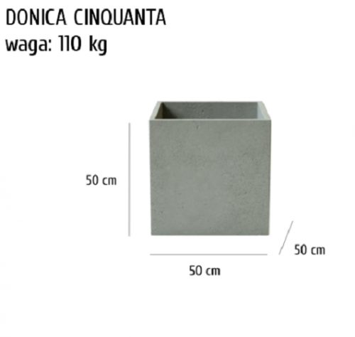 Donica betonowa Cinquanta, szary, antracyt, 50x50x50 cm, www.h-design.png