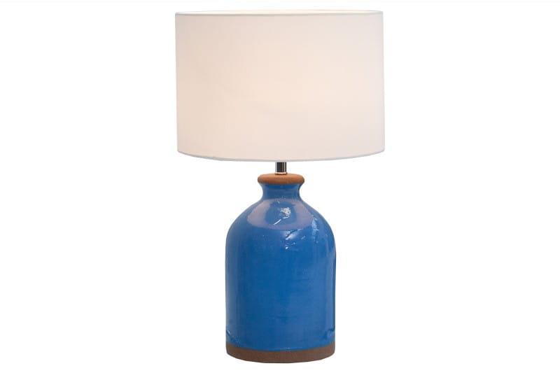 Interior Lampa Stołowa Blue Classy Niebieska Ceramiczna 60cm